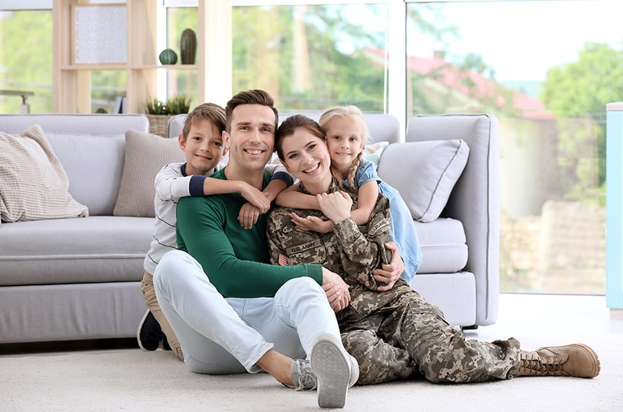 US Military for 2 years of active duty – OR – 6 years in the Reserves or National Guard is eligible for a VA home loan in Iowa