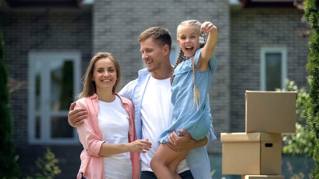 Happy Family Buying Home