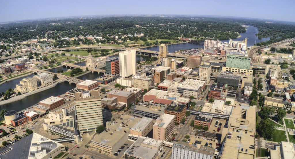 Downtown Cedar Rapids Iowa